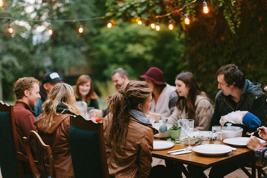 Alpha Group Eating Together