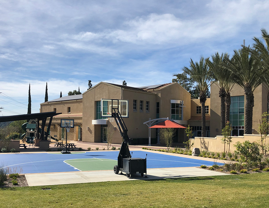 Canyon Hills Friends Church Basketball Court at The Park