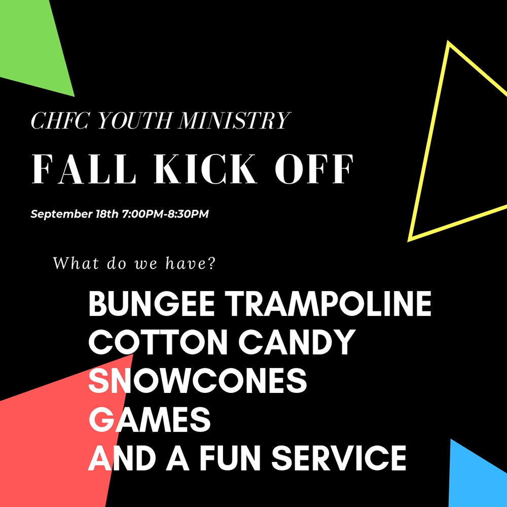 CHFC Youth Ministry Fall Kick Off