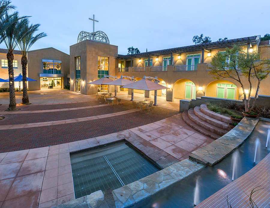 Canyon Hills Friends Church at Night