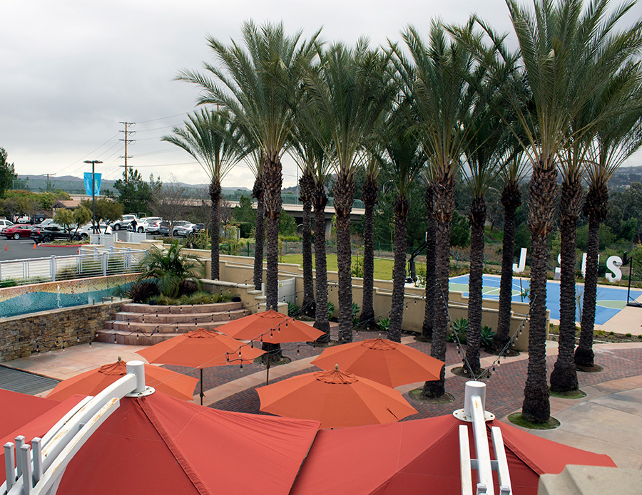 Canyon Hills Friends Church Courtyard - Aerial Overview