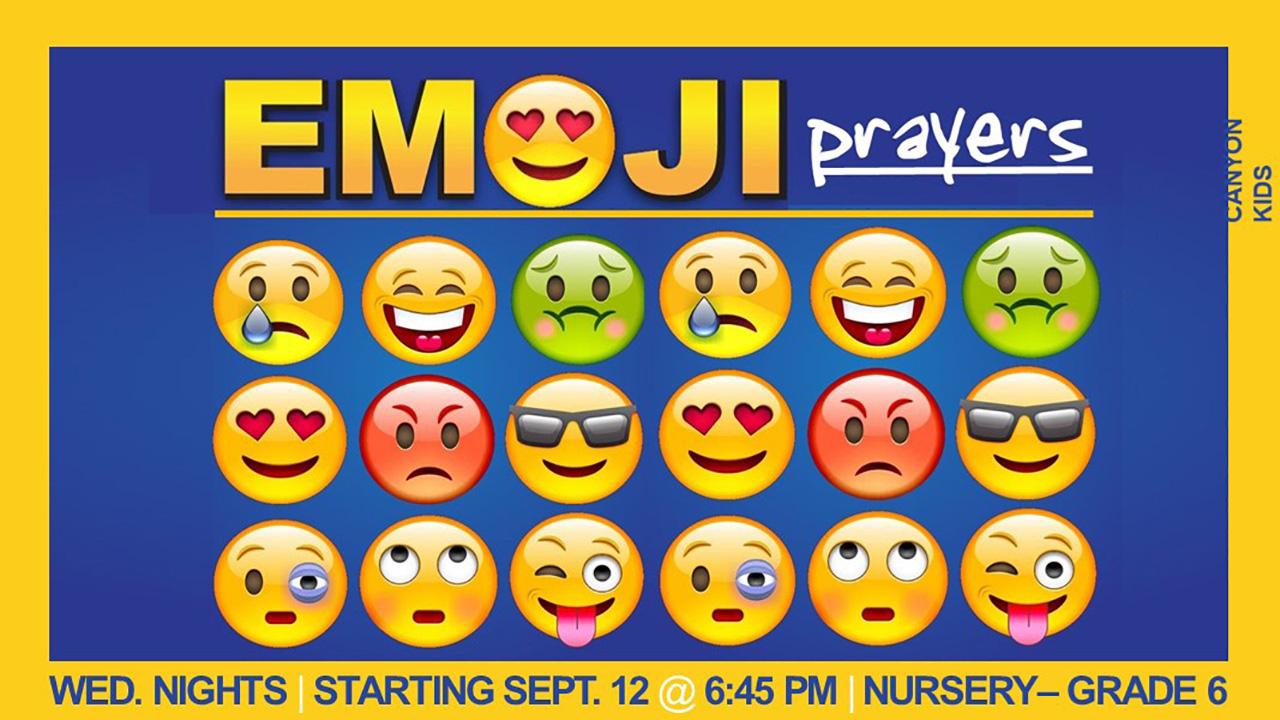 Wednesday Study: Emoji Prayers