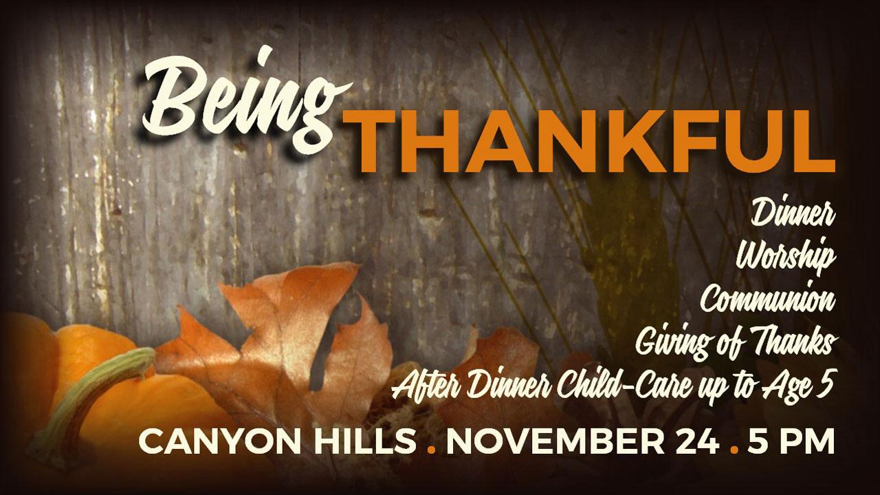 Thanksgiving Dinner 2019 at Canyon Hills Friends Church